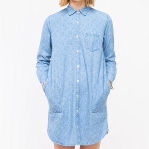 Steven Alan Chambray Printed Shirtdress
